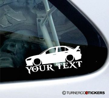 Custom Text / Name ,LOW Mitsubishi Evo 10 lancer evolution Sticker / Decal